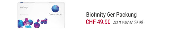 SALE% Biofinity 6er Packung